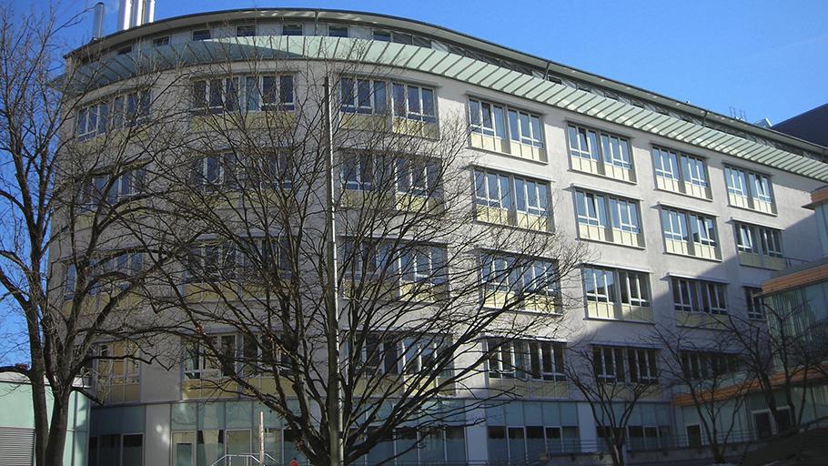 Gruppe Ingenieurbau beratende Ingenieure für Tragwerkplanung. Neubau Klinikum Rotkreuzplatz. Außenansicht
