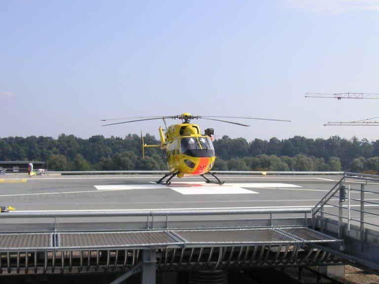 Klinikum Rosenheim Hubschrauber Dachlandeplatz