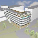 Statik, Planung, ingenieurtechnische kontrolle für BA8 Klinikum Rosenheim – Neubau Haus 2 mit Umbauten im Bestand. Visualisierung