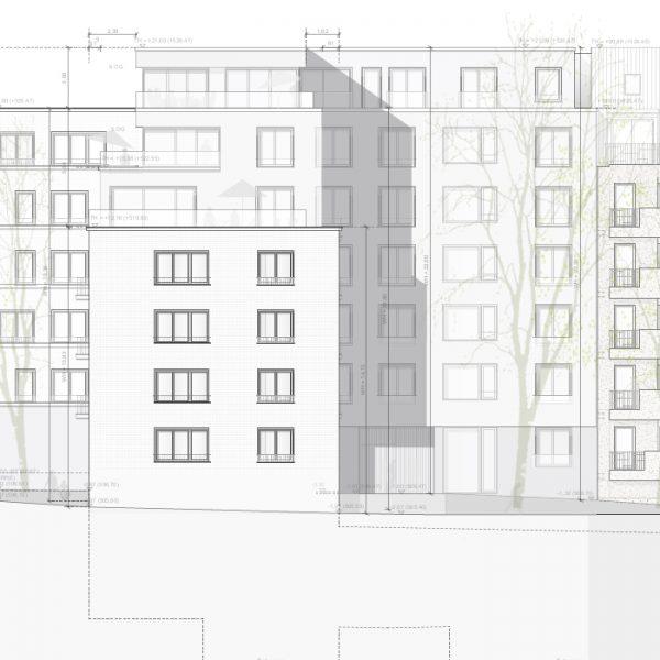 Abbruchbeschreibung und Statik für Neubau Wohnhaus Schwabing. Plan