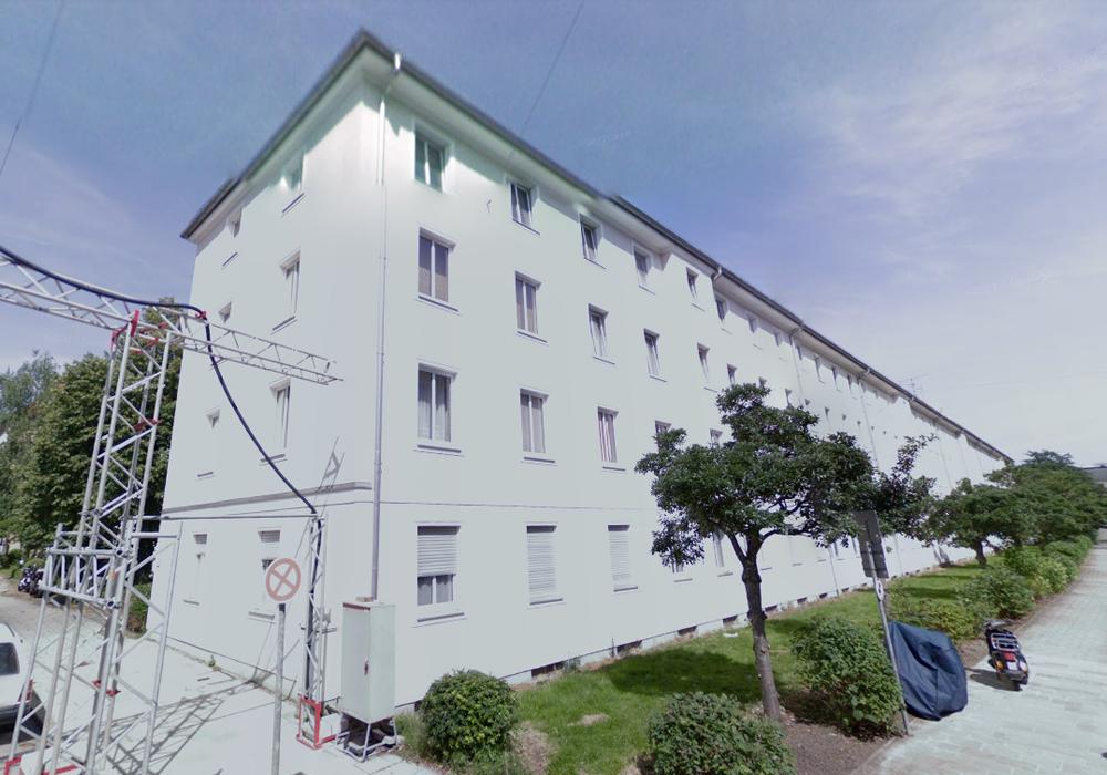 Erweiterung und Sanierung Wohnhaus Wilhelm-Herz-Straße. Außenansicht nach der Sanierung