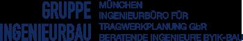 Gruppe Ingenieurbau München Logo Beratende Ingenieure, Bauingenieure Tragwerksplanung Hochbau, Tiefbau und Bauen im Bestand